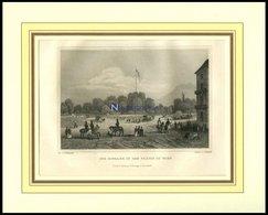WIEN: Der Eingang In Den Prater, Stahlstich Von Hoffmeister/Hoffmeister, 1840 - Lithographien