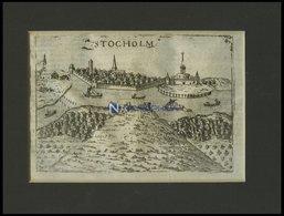 STOCKHOLM, Gesamtansicht, Kupferstich Aus Meisner`s Schatzkästlein Um 1630 - Lithographien