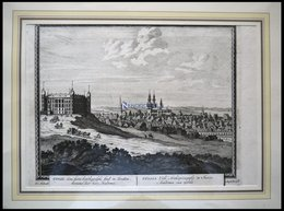 UPPSALA, Gesamtansicht, Kupferstich Von Schenk Um 1702 - Lithographien