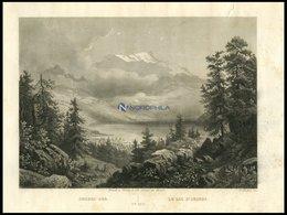 AEGERI-SEE/KANTON ZUG, Stahlstich Von Huber Um 1840 - Lithographien