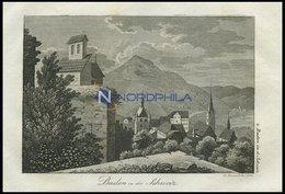 BADEN, Gesamtansicht Des Badeortes, Kupferstich Von F. Rosmäsler Jun. Von 1820 - Lithographien