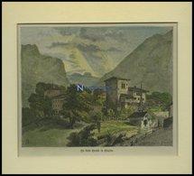 BÜRGLEN/KANTON URI: Tells-Kapelle, Kolorierter Holzstich Um 1880 - Lithographien