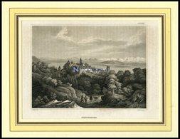 NEUCHATEL, Gesamtansicht, Stahlstich Von B.I. Um 1840 - Lithographien