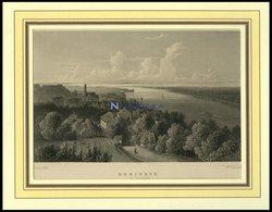 RHEINECK/KANTON ST. GALLEN, Gesamtansicht, Stahlstich Von Lange/Lang Um 1840 - Lithographien