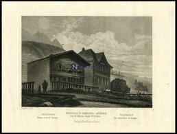 Bei WILDHAUS/KANTON ST. GALLEN: Zwingli`s Geburts-Städte, Stahlstich Von Geißler Um 1840 - Lithographien