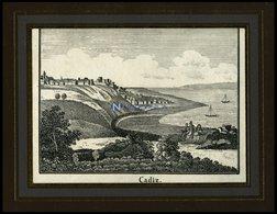 CADIZ, Gesamtansicht, Lithografie Aus Neue Bildergalerie Um 1840 - Lithographien