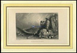 HIRMSKRETSCHEN, Gesamtansicht, Stahlstich Von Roberts/Payne Um 1840 - Lithographien
