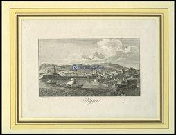 ALGERIEN: Algier, Gesamtansicht, Kupferstich Von Blaschke Um 1830 - Lithographien