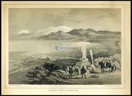 HAKODADI, Vom Telegraphen-Berg Gesehen (Hakodadi From Telegraph Hill), Getönte Lithographie Aus Narrative Of The Expedit - Lithographien