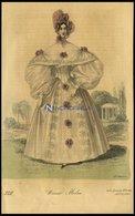 Wiener-Moden - Kleid Aus Besticktem Taft Mit Schleifchen Verziert, Altkolorierter Kupferstich Aus Wiener Zeitschrift Für - Lithographien