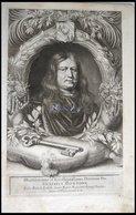 Graf Gustav Bonde, Reichs-Rat Am Schwedischen Hof, Portrait Von Ca. 1668, Kupferstich Von Pufendorf Aus `Sieben Bücher V - Lithographien