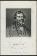 EugŠne Sue, Französischer Schriftsteller, Stahlstich Von B.I. Um 1840 - Lithographien