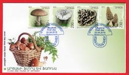 Armenien / Armenie / Armenia / Artsakh / Karabakh 2019, Mushrooms, Flora - FDC - Armenia