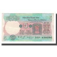 Billet, Inde, 5 Rupees, Undated (1975), KM:80a, TTB - Inde