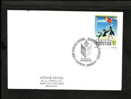 URUGUAY FIGHT AGAINST CANCER 2001 FDC - Uruguay