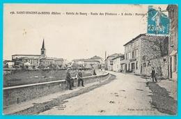 Saint Vincent De Reins  Entrée Du Bourg Route Des Filatures Et Bureau De Poste - Autres Communes