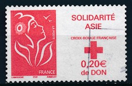 France - Marianne De Lamouche Croix Rouge - Solidarité Asie YT 3745 Obl - Usados