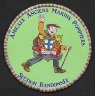 ECUSSON AMICALE MARINS POMPIERS MARSEILLE SECTION RANDONNEE - Ecussons Tissu
