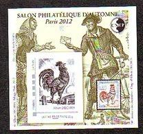 BLOC CNEP 2012 N° 62 ** SALON D'AUTOME PARIS DECARIS  COQ  FACTEUR AVEC TP MONTIMBRAMOI - CNEP
