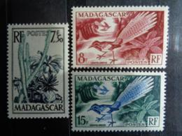 MADAGASCAR 1954 - Y&T N° 322 à 324 ** - FLORE ET FAUNE - Madagascar (1889-1960)