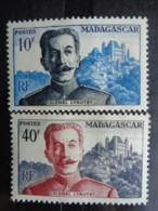 MADAGASCAR 1954 - Y&T N° 325 & 326 ** - CENTENAIRE NAISSANCE MARECHAL LYAUTEY - Madagascar (1889-1960)