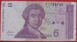 5 Dinara 1991 (WPM 17) - Croatia