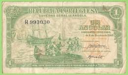 Angola - Nota 1 Angolar De 1948 - Numismática - Notafilia - República Portuguesa - Portugal - Angola
