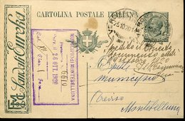 44585 Italia, Intero Pubblicitario Viaggiato 1920 Con Pubblicità Sandali Eureka - Entero Postal