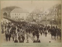 Lorraine . Arrivée Du 97e Allemand à Sarrebourg Le 29 Juin 1887 . - Oorlog, Militair