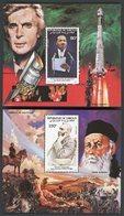 DJIBOUTI 2 Blocs Spéciaux Sur Papier Gommé De La Poste Aérienne N° 186 à 187  PERSONNAGES CELEBRES  (1983) - Martin Luther King