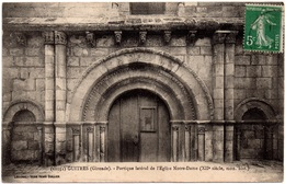 CPA Guîtres 33. Portique Latéral De L'église Notre-Dame. 1914 - France