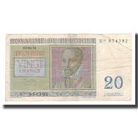 Billet, Belgique, 20 Francs, 1956, 1956-04-03, KM:132b, TB+ - [ 6] Trésorerie