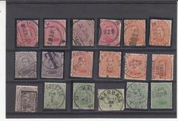 Belgique Lot De Timbres    Roi Albert   Voir Cachets - 1915-1920 Albert I
