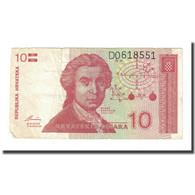 Billet, Croatie, 10 Dinara, 1991-10-08, KM:18a, TB - Croatie