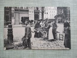 CPA 76 ROUEN JOUR DES RAMEAUX A LA CATHEDRALE MARCHANDE AMBULANTE ANIMEE - Rouen