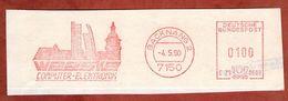 Ausschnitt, Hasler C29-060B, Weeske, 100 Pfg, Backnang 1990 (72882) - Machine Stamps (ATM)