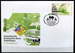 """Germany 2016 Plusbrief Mi.Nr.USo ???""""Intern.Briefmarken,Börse-Umweltbewusst Leben """"mit SST""""Bonn,Bäume """"1 Beleg - Umweltschutz Und Klima"""