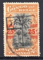 BELGISCH CONGO: COB TX 56 GESTEMPELD - Portomarken: Gebraucht