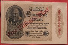 1000000 Mark 15.12.1922 (WPM 113b) 1 Million Overprint On 1000 Mark Wasserzeichen Kreuzblüten - 1918-1933: Weimarer Republik