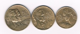 10+20+50 DINAR  1955 JOEGOSLAVIE /3682/ - Yougoslavie
