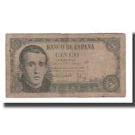 Billet, Espagne, 5 Pesetas, 1951, 1951-08-16, KM:140a, B - [ 3] 1936-1975 : Regency Of Franco