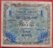 """1 / Eine Mark 1944 (WPM 192) """"Alliierte Militärbehörde"""" Ersatznote - 1 Mark"""