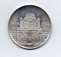 Malta - 1974 - 4 Lire Maltesi - Argento - Vedi Foto - (MW2273) - Malta