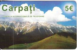 GREECE - Carpati, Amimex Prepaid Card 5 Euro, Used - Mountains
