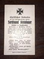 Sterbebild Wk1 Ww1 Bidprentje Avis Décès Deathcard 1916 Aus Stauffendorf - 1914-18