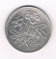 25 CENTS 2001 MALTA /3693/ - Malta