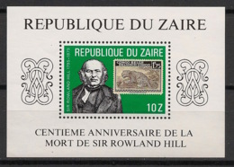 Zaire - 1980 - Bloc Feuillet N°Yv. 17 - Sir Rowland Hill - Neuf Luxe ** / MNH / Postfrisch - 1980-89: Neufs