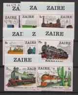 Zaire - 1980 - N°Yv. 962 à 969 - Trains - Non Dentelé / Imperf. - Neuf Luxe ** / MNH / Postfrisch - Treni