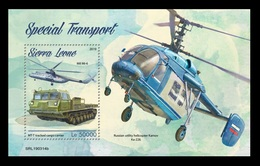 Sierra Leone 2019 Mih. 10522 (Bl.1635) Special Transport. Helicopters. Automobiles MNH ** - Sierra Leone (1961-...)