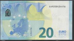 € 20 ITALIA SA S006 I6  LAST POSITION DRAGHI  UNC - EURO